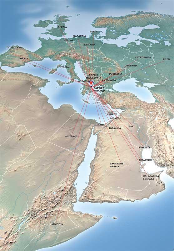 Χάρτης εξαγωγών